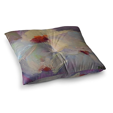 East Urban Home Dreaming of Dogwood by Carol Schiff Floor Pillow; 26'' x 26''