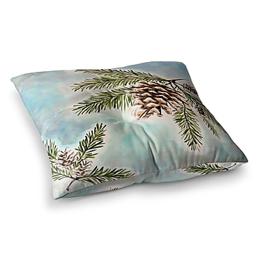 East Urban Home Pinecones and Sky by Christen Treat Floor Pillow; 23'' x 23''