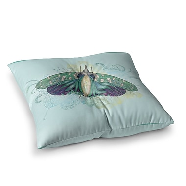 East Urban Home Deco Moth by Catherine Holcombe Floor Pillow; 23'' x 23''