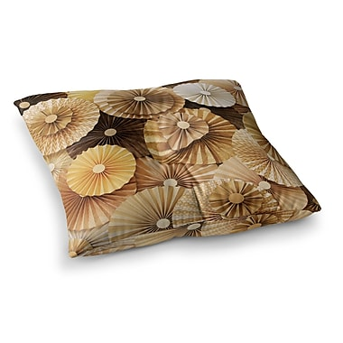 East Urban Home Caramel Latte by Heidi Jennings Floor Pillow; 23'' x 23''