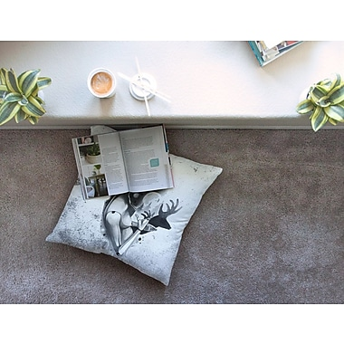 East Urban Home Shadow Play Painting by Ivan Joh Floor Pillow; 26'' x 26''