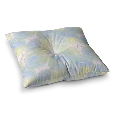 East Urban Home Paper Flower by Alison Coxon Floor Pillow; 26'' x 26''