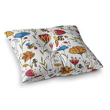 East Urban Home Bees by Alisa Drukman Floor Pillow; 26'' x 26''