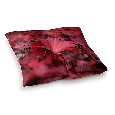 East Urban Home Leaves by Angie Turner Floor Pillow; 26'' x 26''