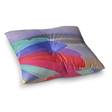 East Urban Home Beach Umbrella Coastal Photography by Angie Turner Floor Pillow; 23'' x 23''