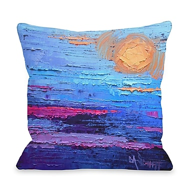 Highland Dunes Valencia Moon Over Miami Throw Pillow; 18'' H x 18'' W x 3'' D