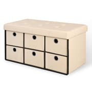 Rebrilliant 6 Drawer Storage Bench; Taupe