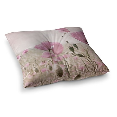 East Urban Home Summer Dream Floral by Iris Lehnhardt Floor Pillow; 26'' x 26''