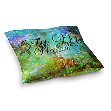 East Urban Home Fly Me to the Moon by Ebi Emporium Floor Pillow; 26'' x 26''