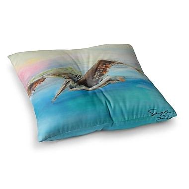 East Urban Home Coast Ocean Bird by Josh Serafin Floor Pillow; 23'' x 23''