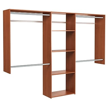 Easy Track Deluxe 48''W - 96''W Shelving Closet System; Cherry