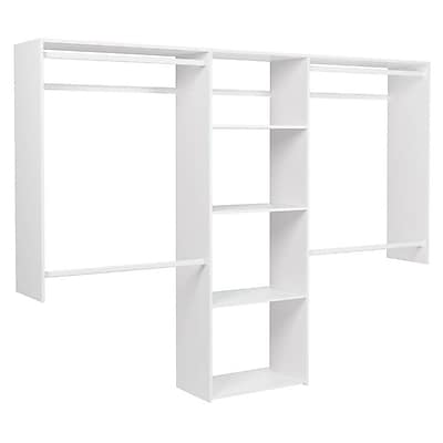 Easy Track Deluxe 48''W - 96''W Shelving Closet System; White