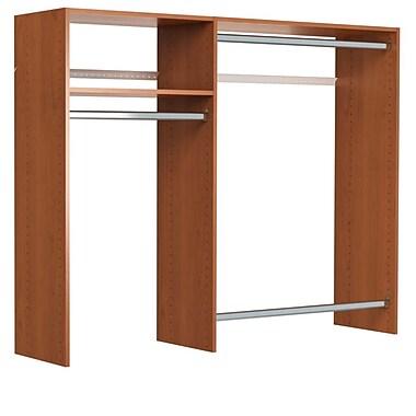Easy Track 36''W - 60''W Hanging Closet System; Cherry
