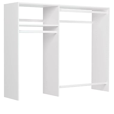Easy Track 36''W - 60''W Hanging Closet System; White