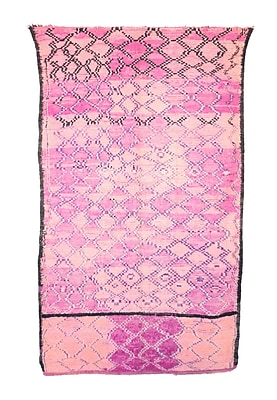 Indigo&Lavender Moroccan Hand Woven Wool Pink Area Rug