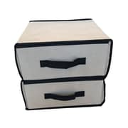 Rebrilliant Two Drawer Storage Fabric Box