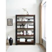 Gracie Oaks Brackenridge Wood Veneer 73'' Etagere Bookcase; Mahogany