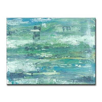 Brayden Studio 'Seafoam Coast' Acrylic Painting Print on Canvas; 30'' H x 40'' W
