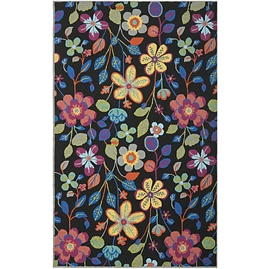 Ebern Designs Hayes Floral Outdoor Area Rug; 5' x 8'