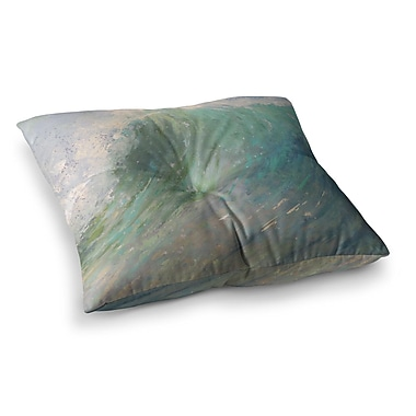 East Urban Home Wall of Water by Carol Schiff Floor Pillow; 23'' x 23''