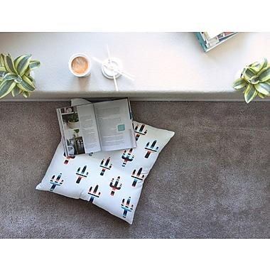 East Urban Home Serape Cactus Digital by Draper Floor Pillow; 23'' x 23''