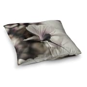 East Urban Home Vanilla Magnolia Floral by Chelsea Victoria Floor Pillow; 23'' x 23''