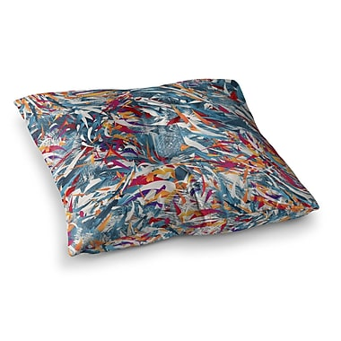 East Urban Home Excited Colours Abstract by Danny Ivan Floor Pillow; 23'' x 23''