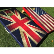 WestGeorgiaCornhole American and UK Flag 10 Piece Cornhole Set