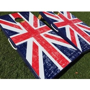 WestGeorgiaCornhole UK British Flag 10 Piece Cornhole Set