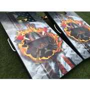 WestGeorgiaCornhole Firefighter Custom 10 Piece Cornhole Set