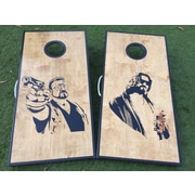 WestGeorgiaCornhole The Big Lebowski 10 Piece Cornhole Set