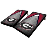 WestGeorgiaCornhole University of Georgia Distressed Triangle 10 Piece Cornhole Set