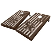 WestGeorgiaCornhole University of Kentucky Stained American Flag 10 Piece Cornhole Set