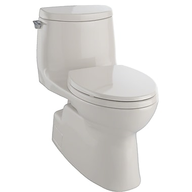 Toto Carlyle II 1 GPF Elongated Two-Piece Toilet; Bone