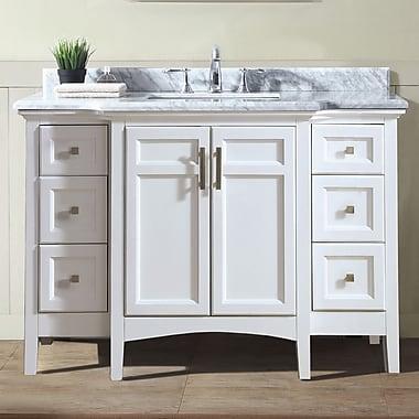 Darby Home Co Trumbull 48'' Single Bathroom Vanity Set; White