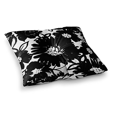 East Urban Home Monochromatic Blooms by Emine Ortega Floor Pillow; 26'' x 26''