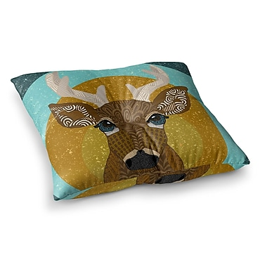 East Urban Home Stag in Grass by Art Love Passion Floor Pillow; 26'' x 26''
