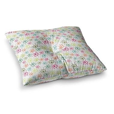 East Urban Home Mod Flower Burst by Holly Helgeson Floor Pillow; 23'' x 23''