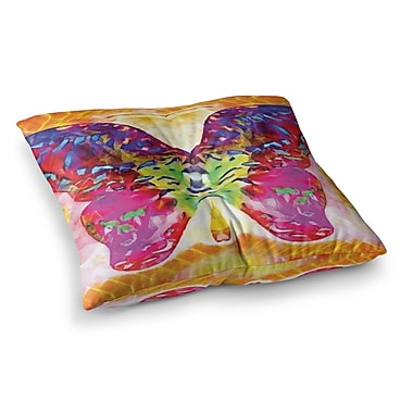 East Urban Home Butterfly Spirit by Anne LaBrie Floor Pillow; 23'' x 23''