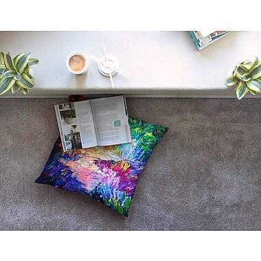 East Urban Home Welcome to Utopia Rainbow by Ebi Emporium Floor Pillow; 23'' x 23''