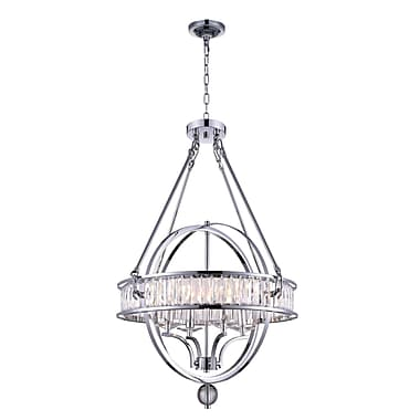 CrystalWorld 4-Light Candle-Style Chandelier