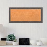 Gracie Oaks Rustic Framed Cork Bulletin Board; 32.88''