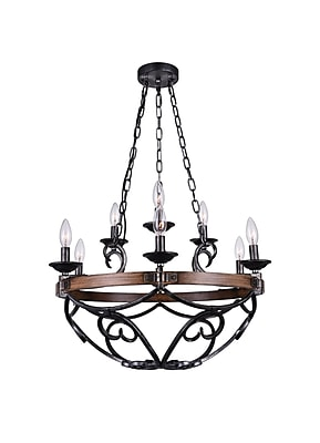 CrystalWorld Morden 9-Light LED Candle-Style Chandelier