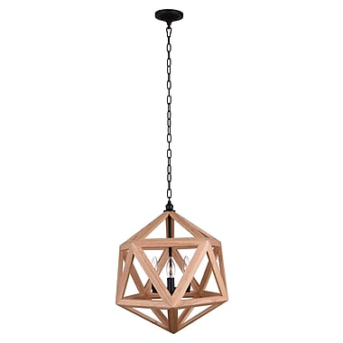 CrystalWorld 3-Light Geometric Pendant