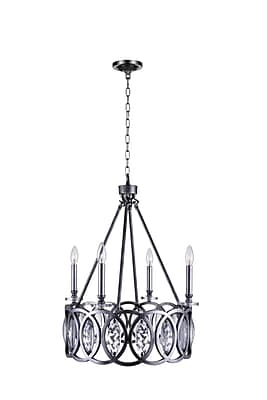 CrystalWorld Attis 4-Light LED Candle-Style Chandelier