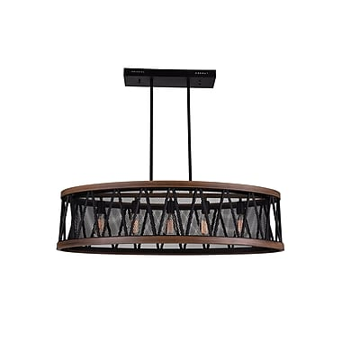 CrystalWorld Parsh 5-Light LED Drum Chandelier