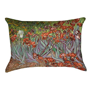 Red Barrel Studio Morley Irises Double Sided Print Rectangle Pillow Cover; Orange