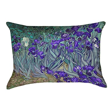 Red Barrel Studio Morley Irises Double Sided Print Rectangle Pillow Cover; Purple