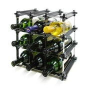 Vinotemp Epicureanist Snap and Stack Modular 9 Tabletop Wine Bottle Rack
