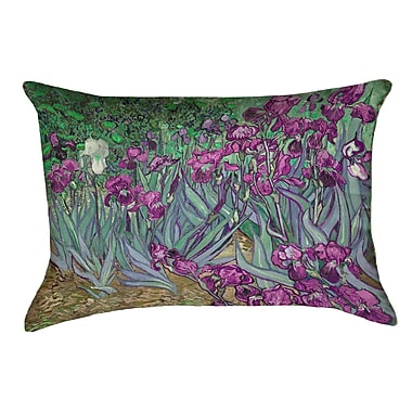 Red Barrel Studio Morley Irises Lumbar Pillow; Pink